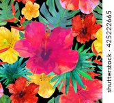 seamless floral  background.... | Shutterstock .eps vector #425222665