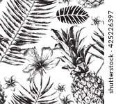 hand drawn seamless pattern... | Shutterstock .eps vector #425226397