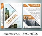 flyers design template vector.... | Shutterstock .eps vector #425228065