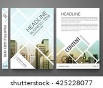 brochure template vector.... | Shutterstock .eps vector #425228077