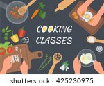 cooking classes concept...   Shutterstock .eps vector #425230975