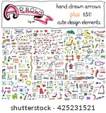 vector hand drawn set of... | Shutterstock .eps vector #425231521