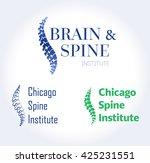 vector logo template. spine... | Shutterstock .eps vector #425231551