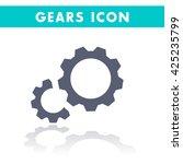 gears icon isolated on white ...