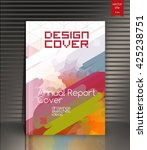 creative cover. annual report... | Shutterstock .eps vector #425238751