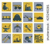 metallurgy icon set. colour... | Shutterstock .eps vector #425240281