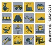 metallurgy icon set. colour... | Shutterstock .eps vector #425240281
