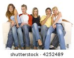 small group of teenagers... | Shutterstock . vector #4252489