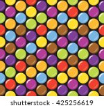 seamless candy background... | Shutterstock .eps vector #425256619