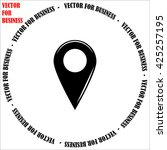 gps icon. simple black vector...