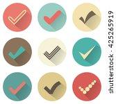 set of different retro check... | Shutterstock . vector #425265919