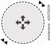 arrows icon flat design.... | Shutterstock .eps vector #425270239