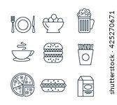 line food  design  | Shutterstock .eps vector #425270671