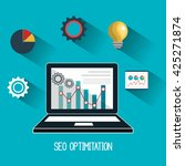 search engine optimization...   Shutterstock .eps vector #425271874
