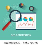 search engine optimization... | Shutterstock .eps vector #425272075