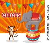 circus show design  | Shutterstock .eps vector #425273101