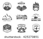 summer and winter mountain... | Shutterstock .eps vector #425273851