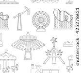 pattern of amusement park or... | Shutterstock . vector #425278621