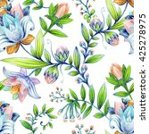 colorful floral pattern.... | Shutterstock . vector #425278975