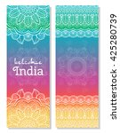 set of indian traditional... | Shutterstock .eps vector #425280739