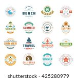summer holidays design elements ... | Shutterstock .eps vector #425280979