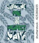 slogan and college vector print.... | Shutterstock .eps vector #425283655