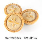 Three Christmas Mince Pies On A ...