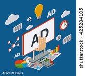 advertising  promotion flat... | Shutterstock .eps vector #425284105