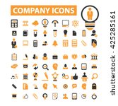 company icons  | Shutterstock .eps vector #425285161