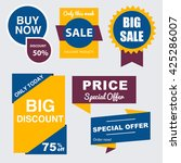 collection of sale discount... | Shutterstock .eps vector #425286007