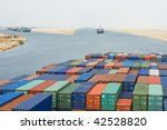 a large container vessel ship