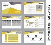 orange set of infographic... | Shutterstock .eps vector #425289661