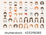 set of icons. hearstyle and... | Shutterstock .eps vector #425298385