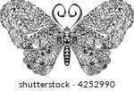 butterfly a butterfly with... | Shutterstock .eps vector #4252990