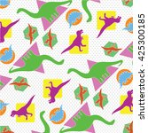 dinosaurs fashion pattern tee... | Shutterstock .eps vector #425300185
