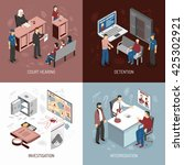 law system isometric concept... | Shutterstock .eps vector #425302921