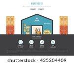 transportation of goods ... | Shutterstock .eps vector #425304409
