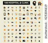 hospital clinic icons  | Shutterstock .eps vector #425304619
