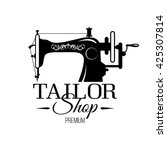 tailor shop banner or tailor... | Shutterstock .eps vector #425307814