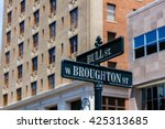 downtown savannah  georgia... | Shutterstock . vector #425313685
