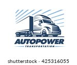 truck logo illustration on... | Shutterstock .eps vector #425316055