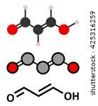 malondialdehyde  mda  enol form ...   Shutterstock .eps vector #425316259