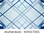 modern glass architecture.... | Shutterstock . vector #425317201