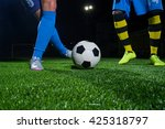 soccer player with ball in... | Shutterstock . vector #425318797