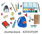 selection of various individual ...   Shutterstock . vector #425319109