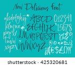 alphabet letters  lowercase ... | Shutterstock .eps vector #425320681
