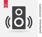 speaker icon vector  sound ... | Shutterstock .eps vector #425322451