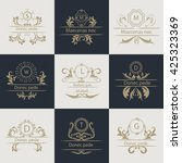 logos for corporate style. set... | Shutterstock .eps vector #425323369