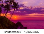 Tropical Sunset Over The Ocean...