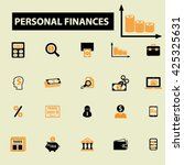 personal finances icons  | Shutterstock .eps vector #425325631